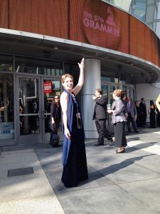 Harpist Anne Roos at the Grammys®