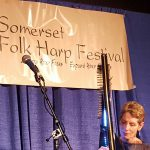 Anne Roos Performing at Somerset Folk Harp Festival