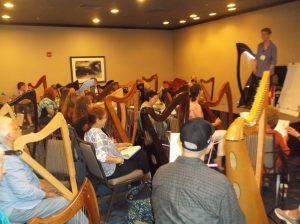 Anne Roos teaches harpists
