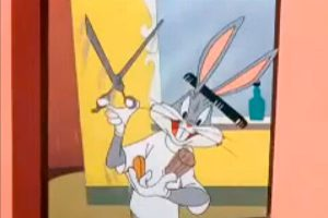 "Bugs Bunny appears in ""The Rabbit of Seville"""