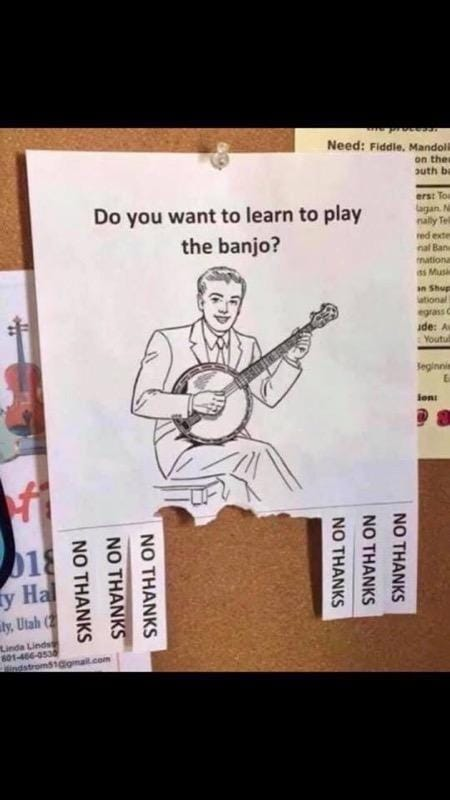 Forget about Banjo Lessons Cartoon