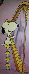 Snoopy Playing Harp