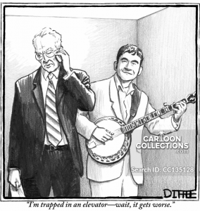 Trapped in Elevator with Banjo